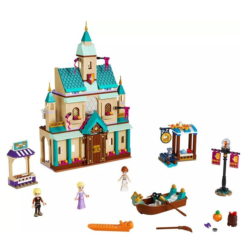 NEW Friends Frozening 2 Arendelle Village Building Blocks Bricks Toys Christmas Girl Gifts Compatible Legoinglys Friends 41167