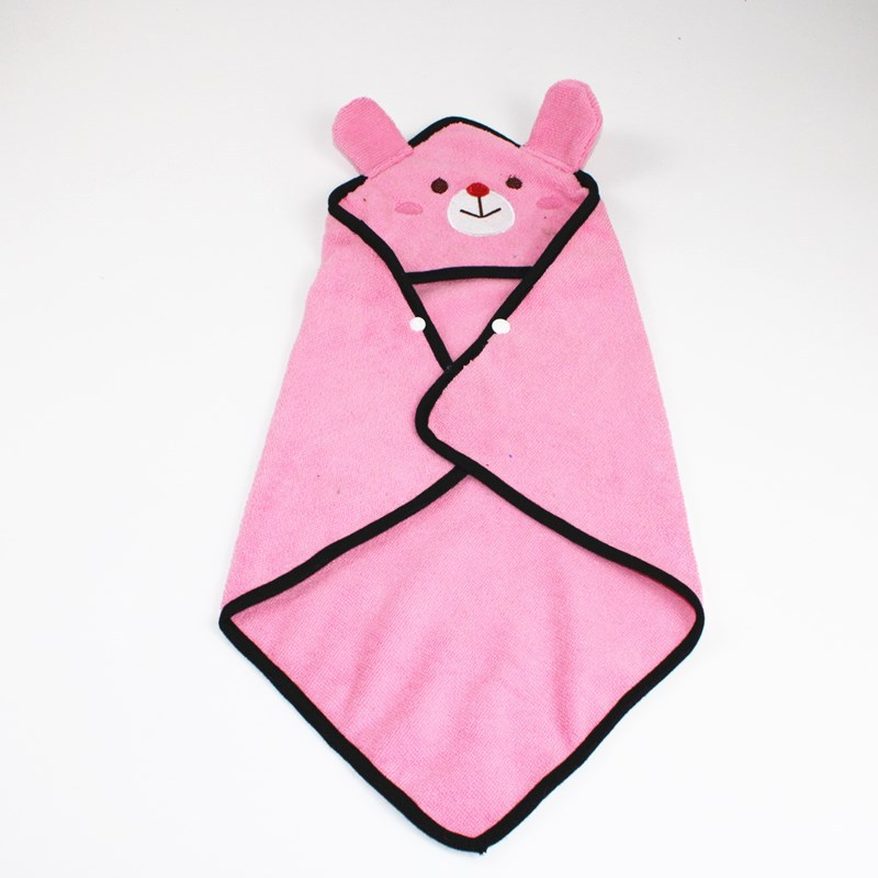 Cute Pet Dog Cat Towel Pets Drying Bath Towels with Hoodies Warm Blanket Soft Drying Cartoon Puppy Super Absorbent Bathrobes 7