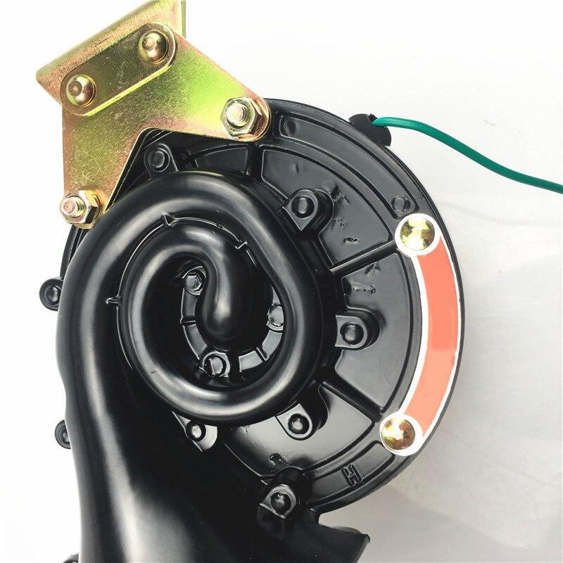 Aozbz 300db 12 v 24 v preto elétrico caracol chifre de ar fúria som estilo do carro alto para o carro da motocicleta caminhão barco durável novo