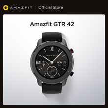 Новая глобальная версия, Новые смарт-часы Amazfit GTR 42 мм, 5ATM, умные часы, 12 дней, батарейка, управление музыкой для телефона Android IOS