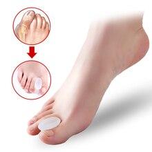 1 قطعة Hallux أروح جبيرة تصحيح ثنائي الحلقات الورم الإبهام العظام كبير فاصل أصابع القدم إصبع باديكير القدم الرعاية أداة