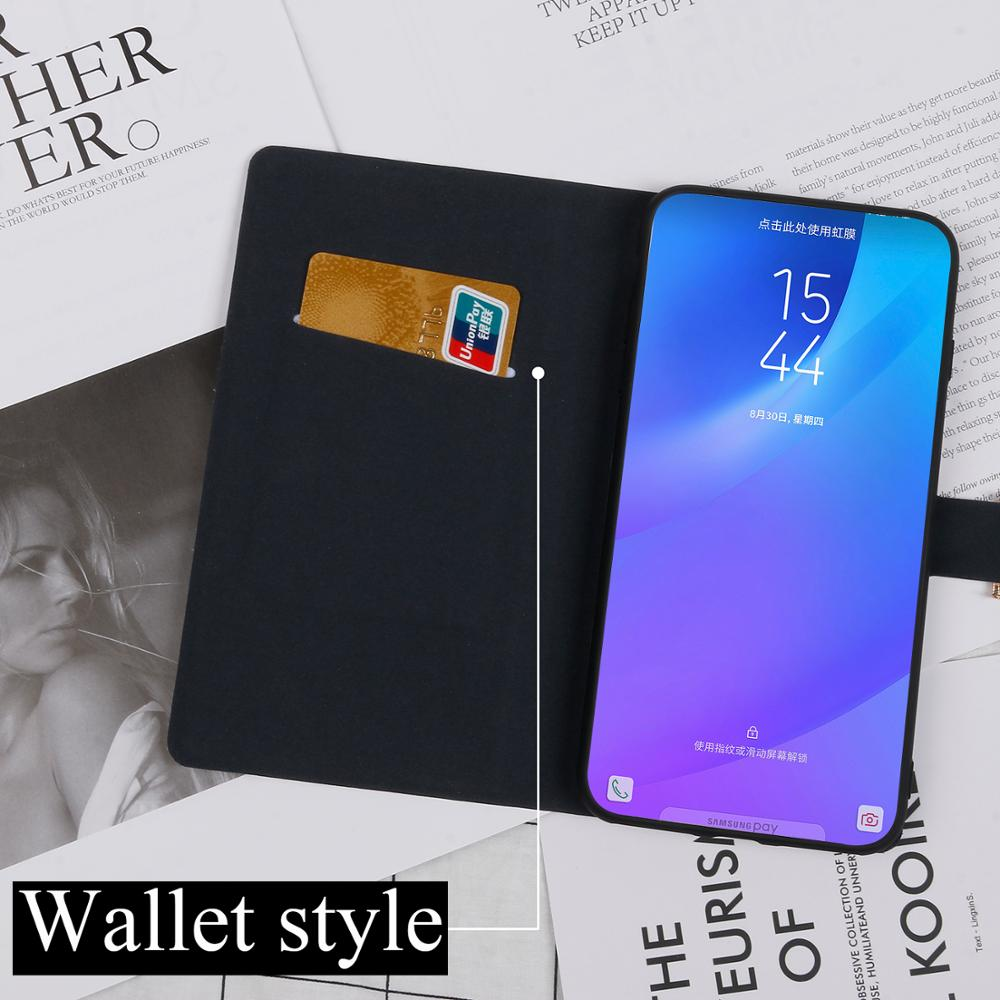 Shining Flip case For Samsung Galaxy A7 2015 2016 2017 2018 fundas bling diamond cover Stand bling wallet slot card for SM A750 in Flip Cases from Cellphones Telecommunications