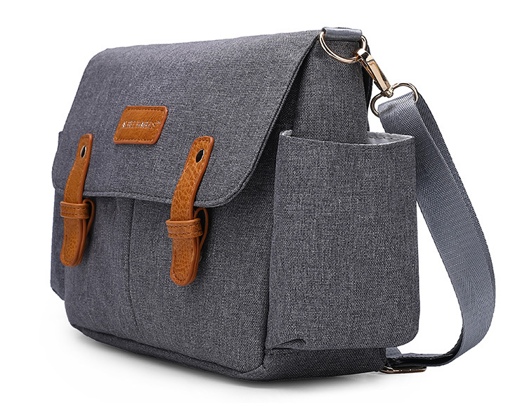 Large Capacity Stroller Bag Gray Black Blue Baby Nappy Bag Fashion Mommy Diaper Bag Stroller Organizer for Baby Stroller