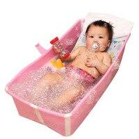 Baby folding bath 0 4Y folding tub 2 in 1 pet dog cat washtub or pet bath easy to carry 1key open kids bath tub home spa
