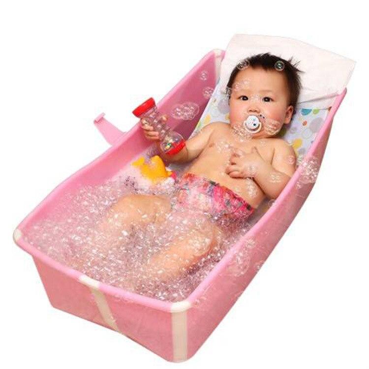 Baignoire pliante bébé 0-4Y baignoire pliante 2 en 1 pet chien chat baignoire ou bain pour animaux de compagnie facile à transporter 1key ouvert enfants baignoire maison spa