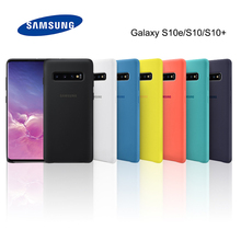 Original S10 Case Samsung Galaxy Plus S10e High Quality Silky Silicon Cover Soft-touch Protective Back + E