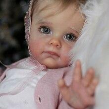 RSG Reborn Baby Doll 22 Inches Lifelike Newborn Maggi Vinyl Unpainted Unfinished Doll Parts DIY Blank Doll Kit