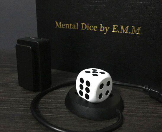 Dados mentais/cubo mental, carregamento sem fio, alma, previsão, truques mágicos diversão magia rua perto de palco acessórios ilusões