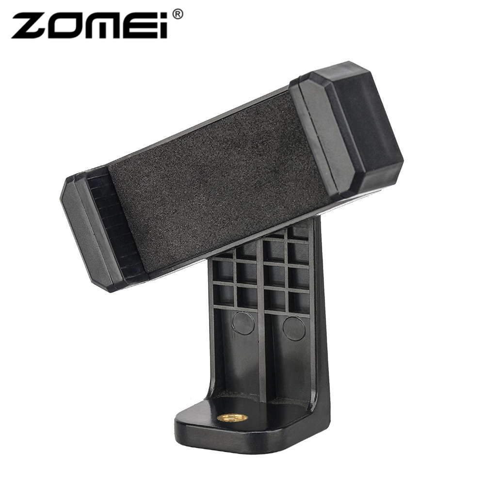 ZOMEI <font><b>Tripod</b></font> <font><b>Mount</b></font> <font><b>Adapter</b></font> Cell Phone Clipper Holder Vertical 360 Stand with <font><b>1/4</b></font> <font><b>screw</b></font> hole for Phone for Camera image