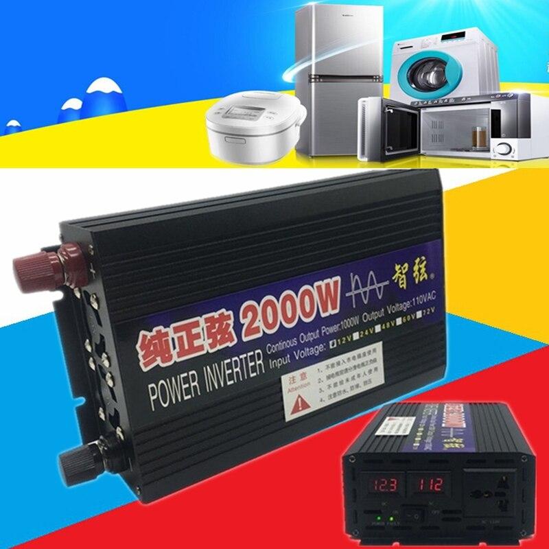 Inversor de onda sinusoidal convertidor de Casa DC12V 24V to CA110V 60Hz 500W 1000W 2000W convertidor coche una Onda Sinusoidale