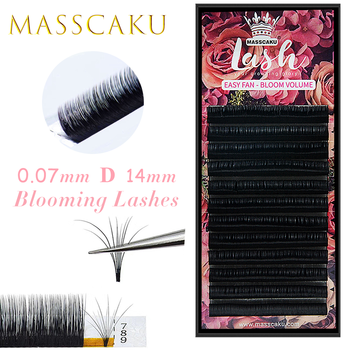 MASSCAKU Easy Fanning Volume Mega Eyelashes Extension Auto Flowering Rapid blooming fans lashes Fast Delivery 1
