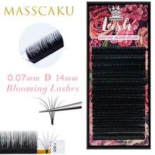 Masscaku fácil fanning volume mega cílios extensão floração automática rápido blooming fãs cílios entrega rápida