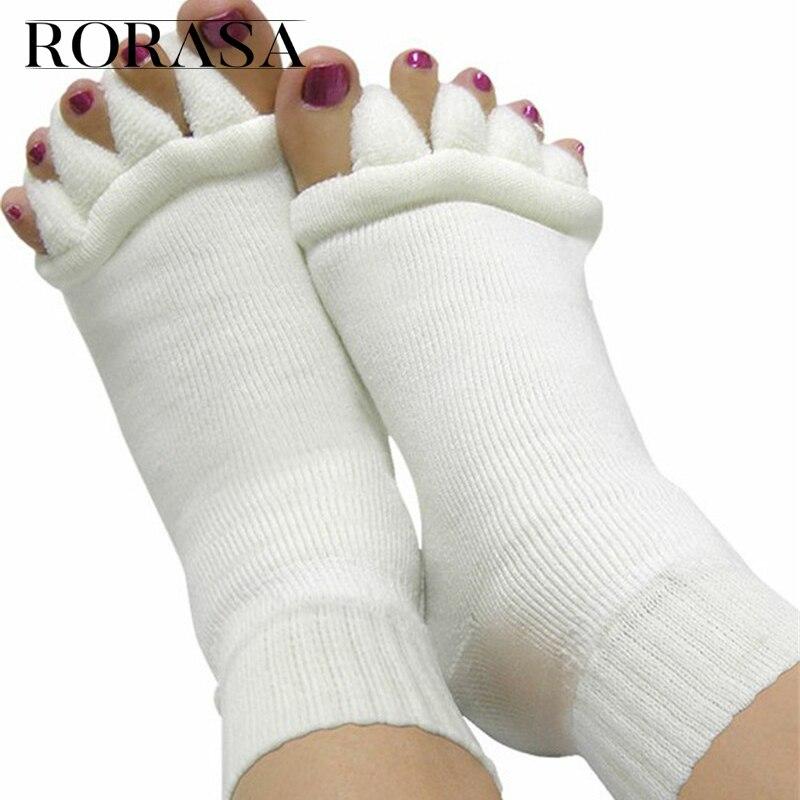 1 Pair Massage Yoga Pedicure Sock Toe Hallux Valgus Corrector Foot Care Toe Bone Adjuster Correction Toe Straightener Feet Care
