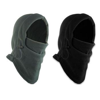 Zimowe ciepłe polarowe czapki czapki dla mężczyzn chusta czaszka szyi cieplej kominiarka twarz Warmming Wargame cap siły specjalne kapelusz Unisex tanie i dobre opinie ECMLN Dla dorosłych CN (pochodzenie) Poliester Stałe D-SPC01X Na co dzień