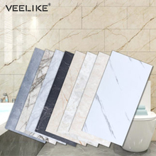Waterproof Floor Stickers Self Adhesive Marble Wallpaper Bathroom Wall