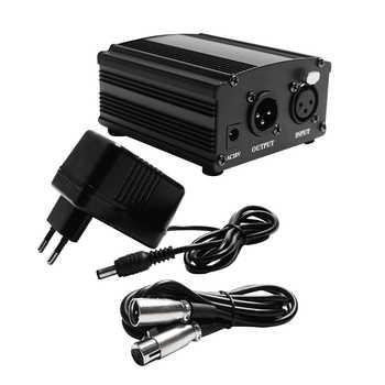 48 v phantom power para bm 800 condensador microfone phantom power 48 v usb com cabo xlr para microfone adaptador de áudio dc power