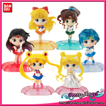 PrettyAngel  Genuine Bandai Sailor Moon Gashapon Capsule Twinkle Statue Moon Mercury  Jupiter Venus Complete Toys Figures