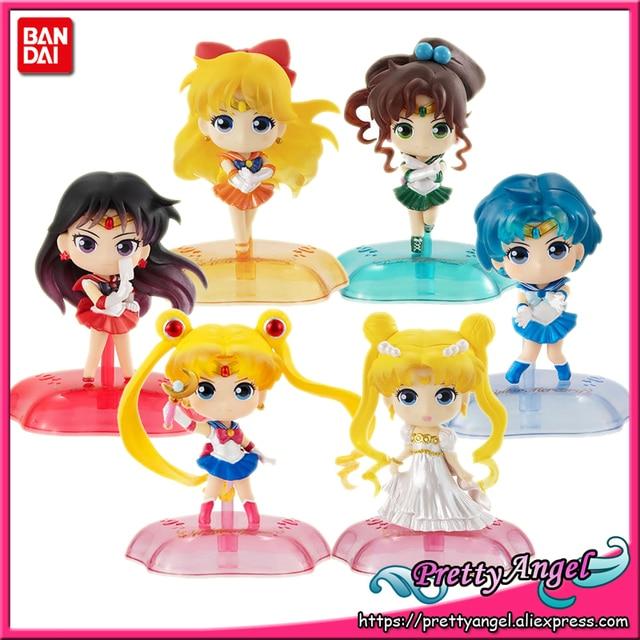 Prettyangel Echt Bandai Sailor Moon Gashapon Capsule Twinkle Standbeeld Moon Mercury Jupiter Venus Compleet Speelgoed Cijfers