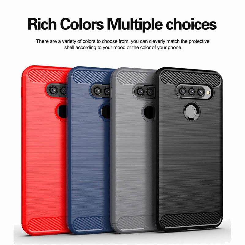 New Carbon Fiber Case For LG Q70 Q60 Q7 Alpha Q6 Plus Case K10 K20 K30 K40 K50 X2 X4 2019 Q8 X5 2018 Cover Soft Silicone Cases