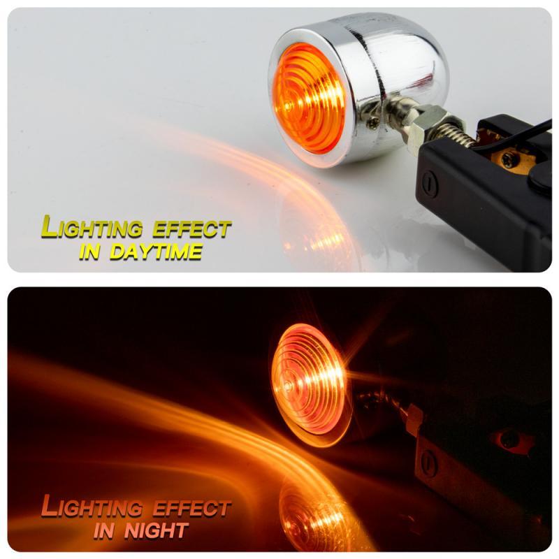 Bullet Motorcycle Turn Signal Indicator Lamp Light Moto Blinker Light For Harley Honda Fatboy Chopper Bobber Suzuki Black /Silve 1