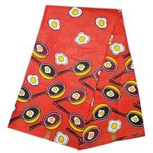 Хлопок африканская Ява воск в красном, нигерийский высококачественный принт хлопок воск ткань настоящая голландская ткань A0005