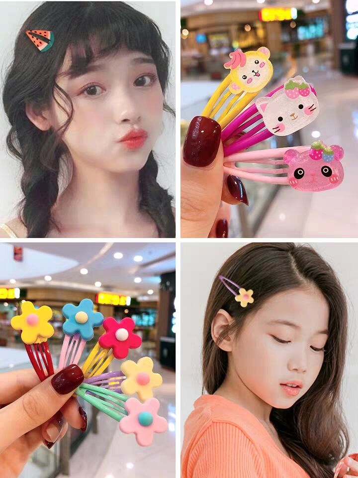 Baby Headwear Cute Hair Clips Accessories Princess Children Hair Clip 4Pcs//set