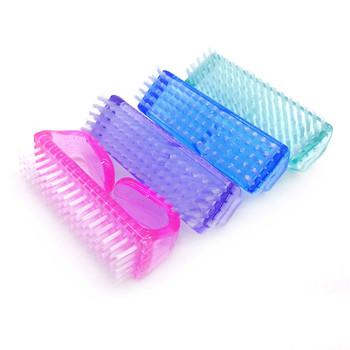 4 sztuk Mix kolor plastikowe zestaw pędzli do stylizacji paznokci żel UV miękka do usuwania kurzu duże rozmiar kąt szczotka do czyszczenia pielęgnacja paznokci przybory do Manicure tanie i dobre opinie JEARLYU 娪婕 As picture show plastic Przyrząd do paznokci nail brush cn gua Pink Purple Blue Green Stock Nail Cleaning Clean Brush Tool