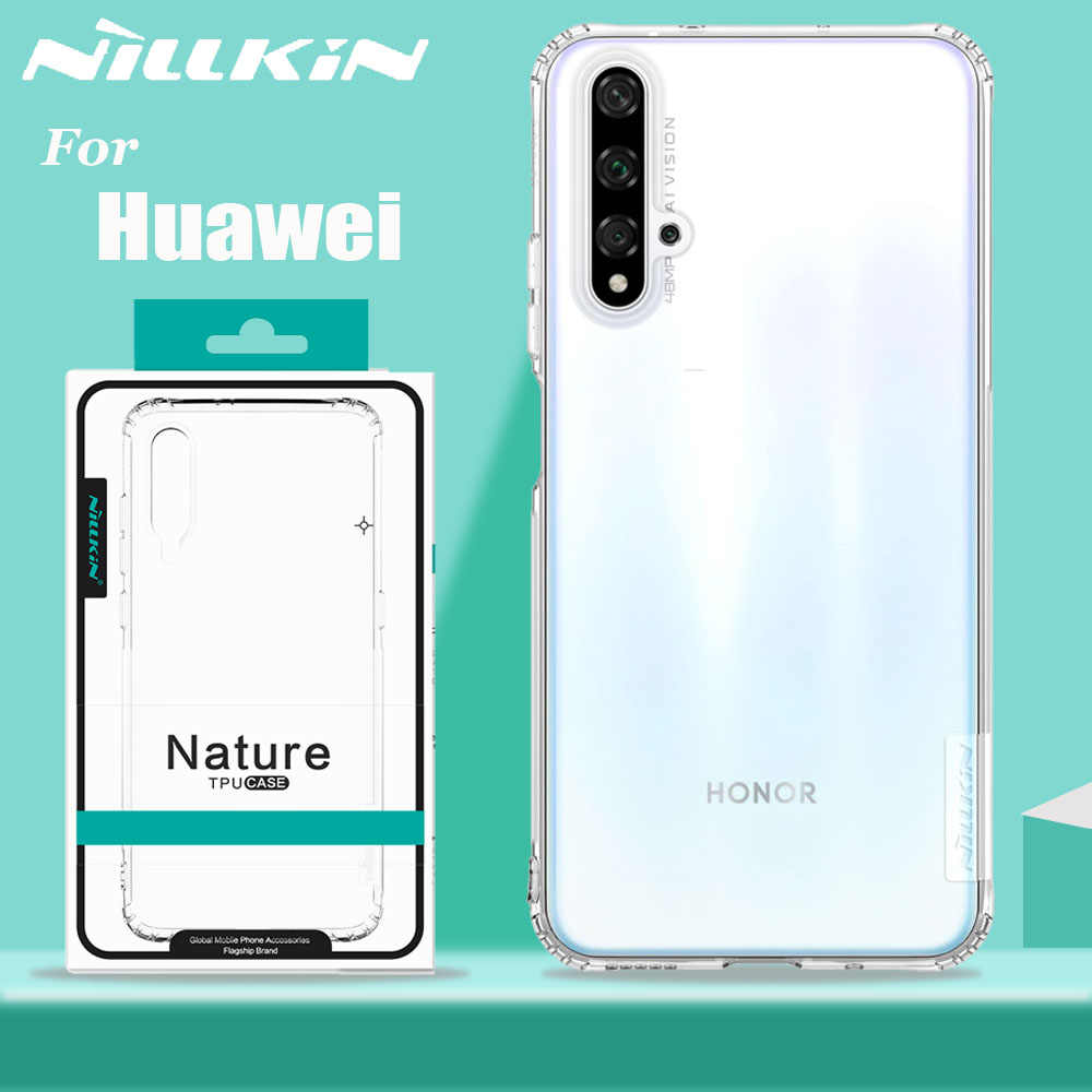 Huawei P30 Lite Case Mate 20 Pro Cover Nillkin Soft TPU Silicone Transparent Clear Phone Back Case Huawei Honor View 20 Pro 10