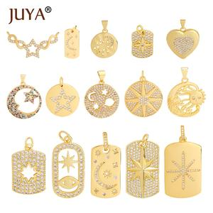 Charms Jewelry Pendants Necklace Star Moon JUYA Luxurious Hand-Made-Accessories-Supplies
