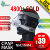 BMC NM2/NM4 Nasal Mask CPAP Mask Sleep Mask with Headgear S/M/L Different Size Suitable For CPAP Machine Connect Hose and Nose
