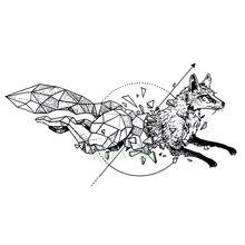 Водостойкая временная татуировка лиса волк волки КИТ Сова Геометрические Животные тату флэш-тату поддельные татуировки для девушек женщин мужчин детей 7