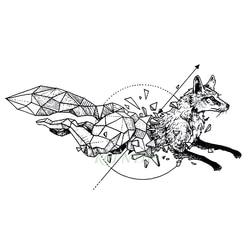 Tatuaje temporal impermeable zorro Lobo ballena búho geométrico animal tatuaje flash tatuaje falso tatuajes para chica mujer hombre chico 7