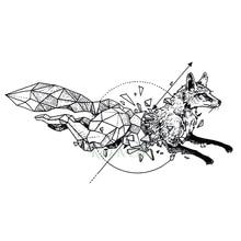 Waterproof Temporary Tattoo fox wolf wolves whale owl geometric animal tatto flash tatoo fake tattoos for girl women man kid 7