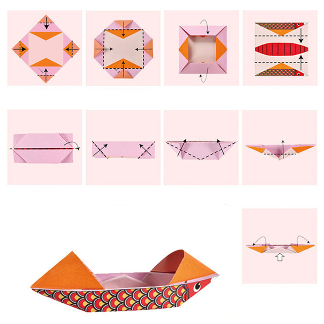 Cartoon Origami Paper Colorful Book Children Toy Animal Pattern 3D Puzzle Handmade DIY Craft Papers Educational Toys 108 PCS 4