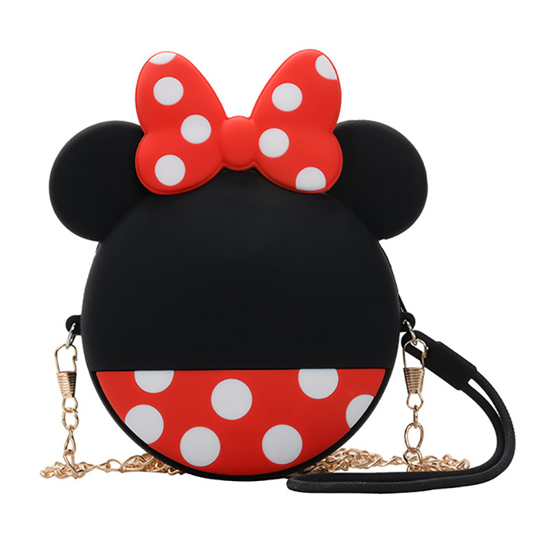 Disney Backpack Bags Schoolbag Shoulder-Bag Mouse Kindergarten Baby-Girl Silicone Mickey Minnie
