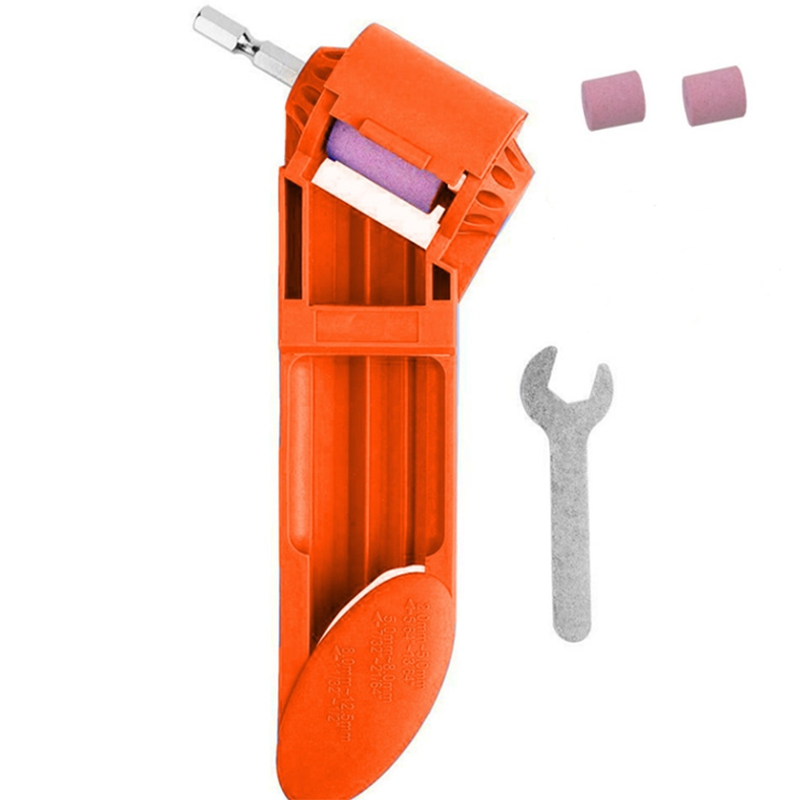 Promotion  Portable Drill Bit Sharpener Corundum Grinding Wheel Powered Tool Drill Bit Sharpener Drill Bit Powered Tool Parts Grinders     - title=
