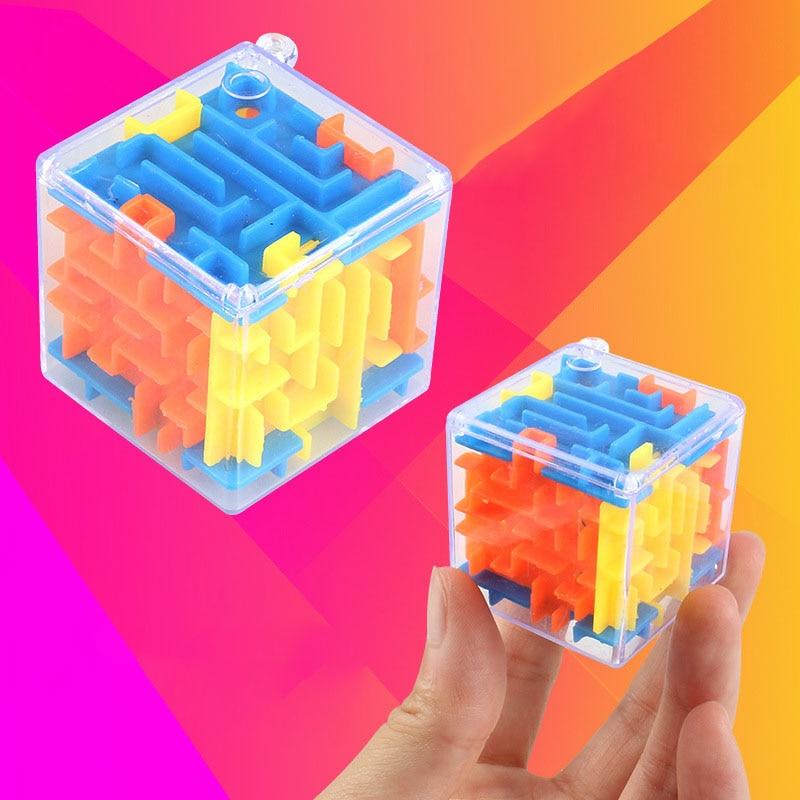 1Pcs Creative Fashion Transparent 3D Walking Bead Labyrinth Marble Puzzles Toys Children Intelligence Magic Cube Educational Toy