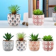Мини Поддельные суккулентные растения, Искусственные пластиковые комнатные искусственная растения для домашний декор для офисного стола