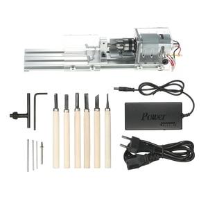 Image 1 - 100W DIY Lathe Machine Mini Lathe Mini Torno Milling Machine Woodworking Wood Working lathe Grinding Polishing Drill Tool