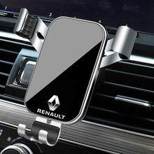 1 pçs suporte do telefone carro gravidade sensing ventilação de ar montagem suporte acessórios para renault kaptur koleos megane sandero clio kadjar