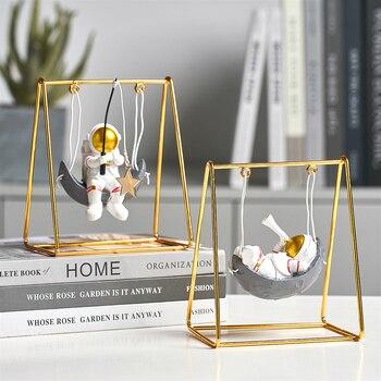 Figuras de astronauta en miniatura para decoración de escritorio, accesorios de decoración para el hogar