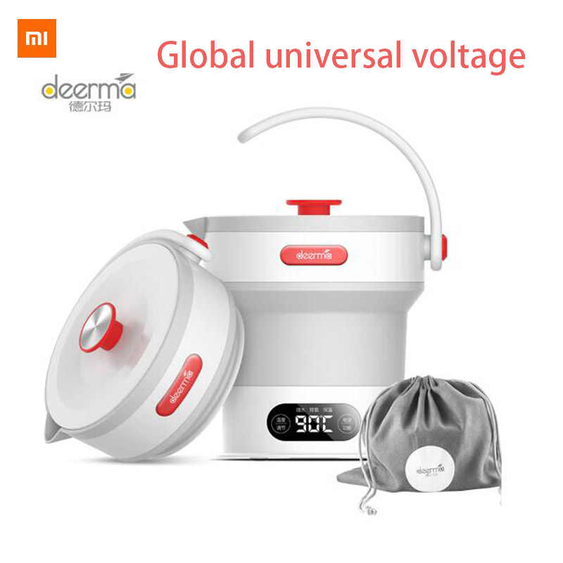 Xiaomi Mijia Deerma 0.6L Folding Portable Air Ketel Handheld Electric Termos Air Pot Auto Power-Off Perlindungan Kabel Ketel