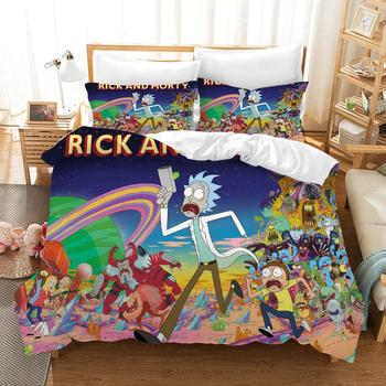 3D Bedding Set Rick and Morty Print Duvet Cover Set Bedcloth with Pillowcase Bed Set Home Textiles Children  Kids Adult Gifts