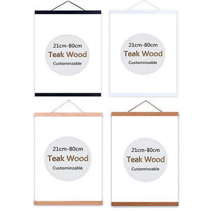 Wooden Poster Hanger Photo Magnetic Frame Four colors DIY Picture Canvas Print Hanging
