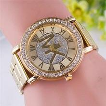 2021 modus business damen uhr luxus gold voller diamanten quarz casual edelstahl damen uhr
