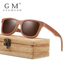 GM Skateboard Wood Sunglasses Men Women Handmade Natural Wooden Polarized New With Creative Gift Box S832