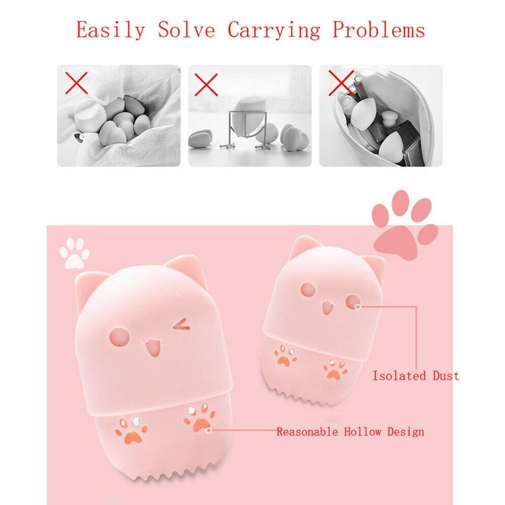 Beauty Sponge Travel Case Practical Beauty Sponge Holder Hollow Design Moisture-Proof And Breathable Makeup Sponge Holder