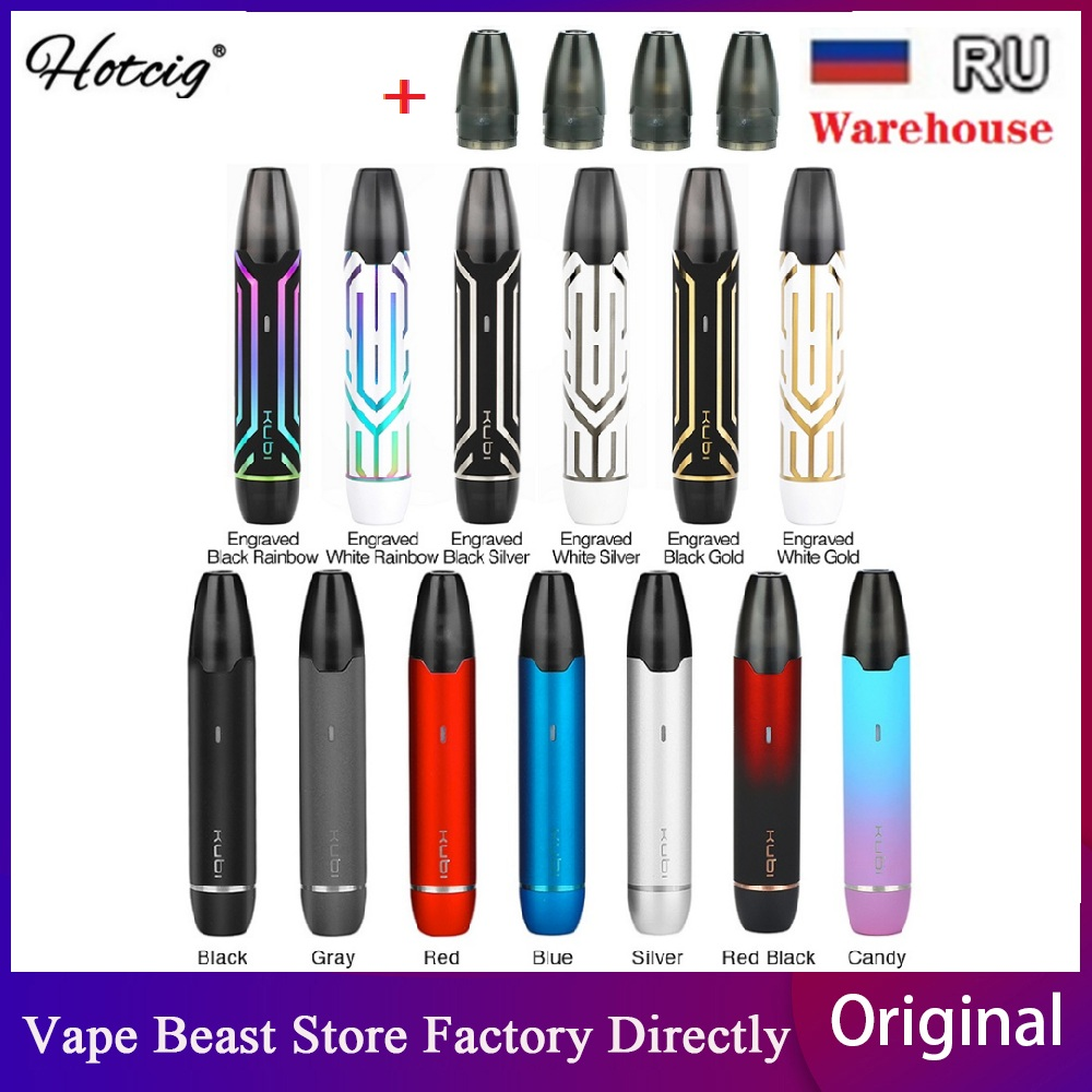 Original Hotcig Kubi Pod Vape Kit With Built-in 550mAh Battery & 1.7ml Pod System Vape Kit Vs Minifit/  Renova Zero/ Frenzy