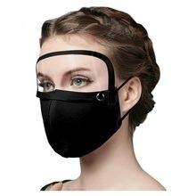 Masque facial Anti-buée pour adultes, protection faciale avec bouclier pour les yeux détachable, protection d'écran pour Halloween Cosplay