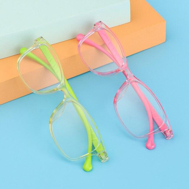 Portátil Anti-Luz Azul niños gafas niños niñas computadora ojo gafas para protección Ultra ligero Marco de las clases en línea